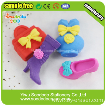 beaut 3D fashion shaped erasers for girls